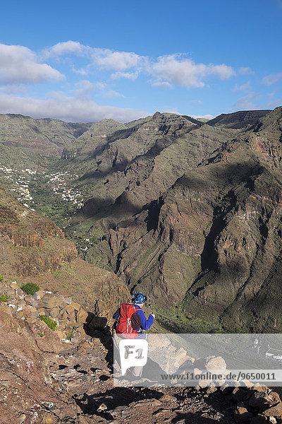 Wanderer  Valle Gran Rey  La Gomera  Kanarische Inseln  Spanien  Europa
