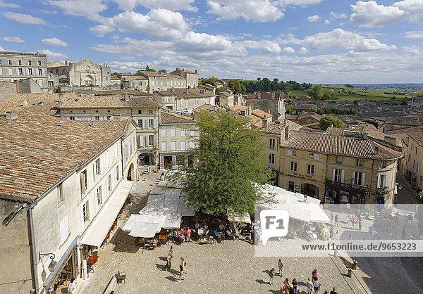 Altstadt  UNESCO Weltkulturerbe  Saint-Emilion  Département Gironde  Aquitanien  Frankreich  Europa
