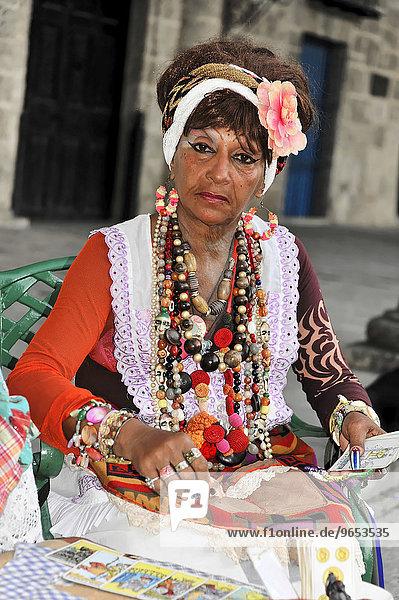 Wahrsagerin  Kreolin  Havanna  Kuba  Nordamerika