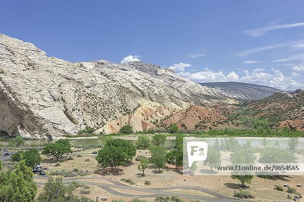 Felsformationen beim Cottonwood Wash am Green River  Dinosaur National Monument  Jensen  Utah  USA  Nordamerika