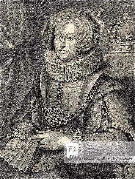 Maria Anna of Spain  1606-1646  Roman-German empress as the wife of Emperor Ferdinand III  historical portrait