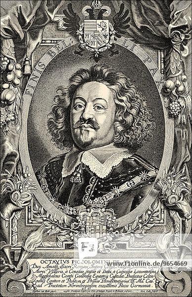 Prince Octavio Piccolomini or Ottavio Piccolomini  Duke of Amalfi  1599-1656  historical illustration