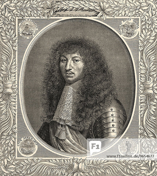 Louis XIV  Louis le Grand  1638-1715  King of France and Navarre  called the Sun King or le Roi-Soleil  historical illustration