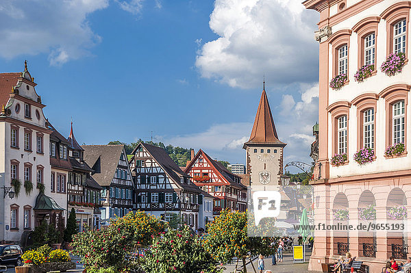 Altstadt mit Obertorturm  Gengenbach  Schwarzwald  Baden-Württemberg  Deutschland  Europa