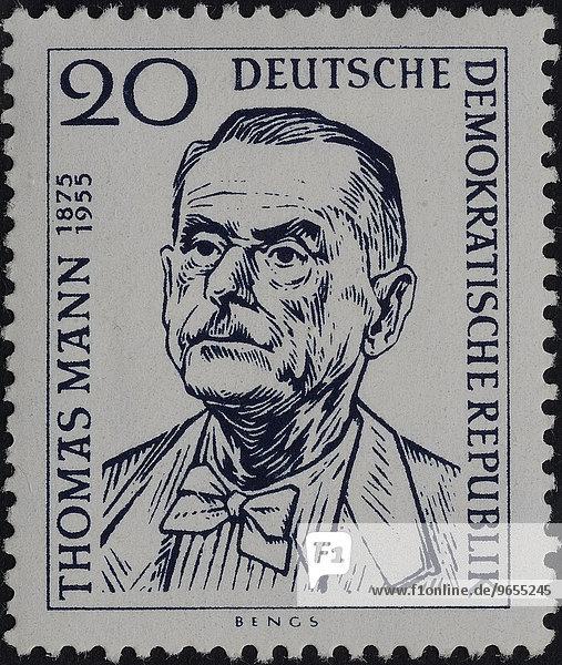 Thomas Mann  Portrait auf einer Briefmarke  DDR  1956