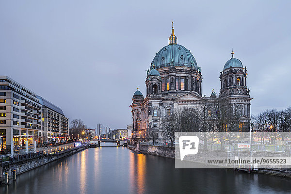 River Spree and Berlin Cathedral  Berlin  Germany  Europe