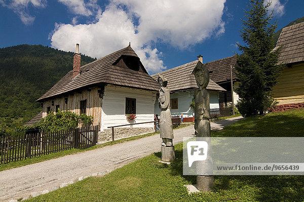 Bergdorf Vlkolínec  UNESCO Weltkulturerbe  Slowakei  Europa