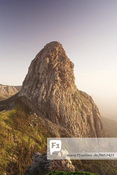 Roque de Agando  Degollada de Agando  Mirador de los Roques  La Gomera  Kanarische Inseln  Spanien  Europa