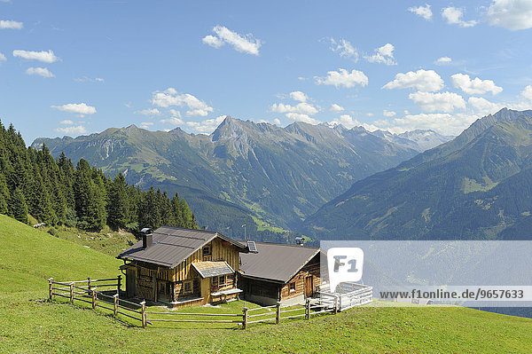Private mountain hut in the Tux Alps  at Penken  Tyrol  Austria  Europe