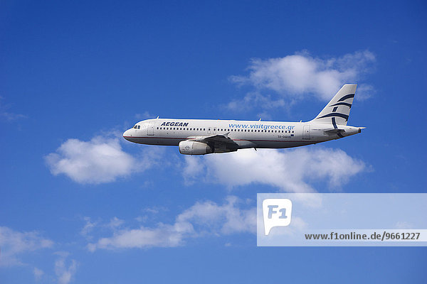 SX-DGD Aegean Airlines Airbus A320-232 in flight