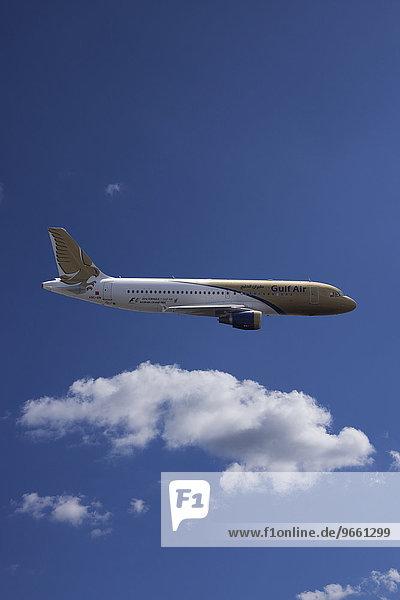 A9C-AM Gulf Air Airbus A320-214 in flight
