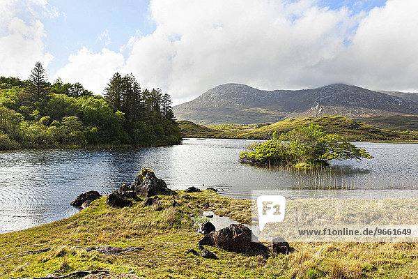Lake or Lough,  Connemara,  County Galway,  Republic of Ireland