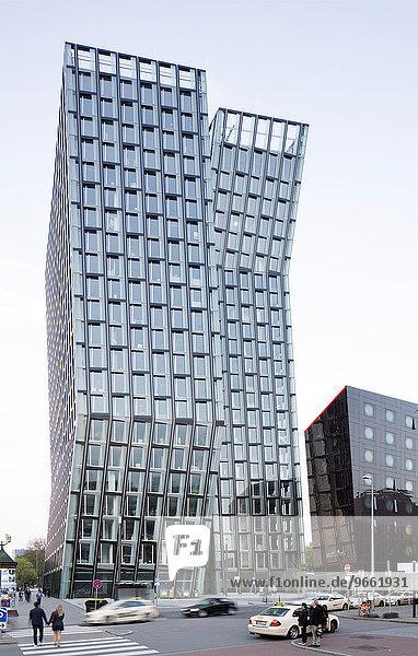 Tanzende Türme  Bürotürme an der Reeperbahn  Architekt Hadi Teherani  Hamburg  Deutschland  Europa Tanzende Türme, Bürotürme an der Reeperbahn, Architekt Hadi Teherani, Hamburg, Deutschland, Europa