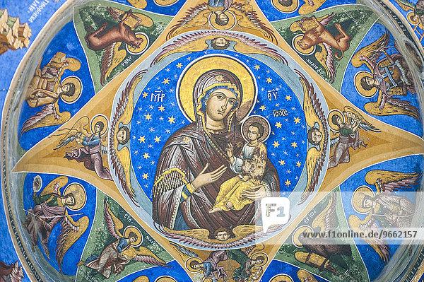 Christliche Wandmalerei  Kloster Horezu  UNESCO Weltkulturerbe  Horezu  Rumänien  Europa