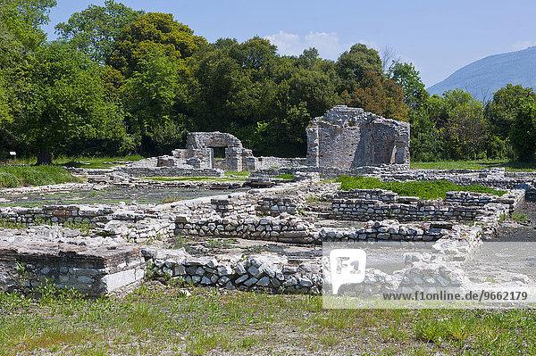 Römische Ruinen  UNESCO Weltkulturerbe  Butrinto  Albanien  Europa