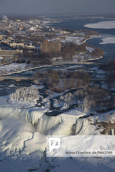 Niagara Falls in winter  Niagara Falls  Ontario  Canada  North America