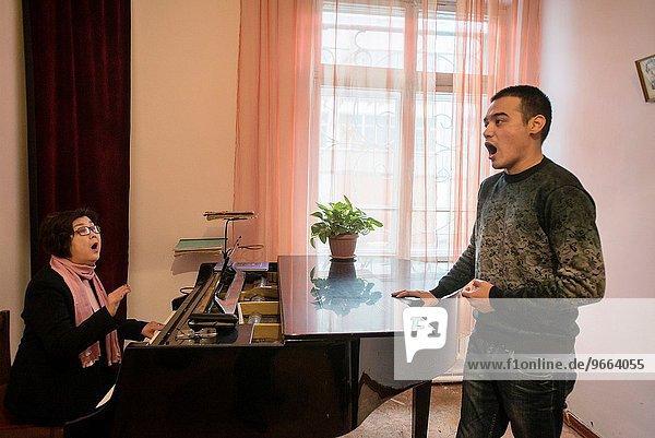 Vocal class with Anara Tazhybajeva in Bishkek musical college  Bishkek  Kyrgyzstan.