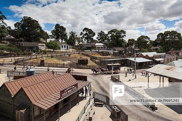 Erhöhte Ansicht Aufsicht Gold Victoria Bergwerk Grube Gruben Australien