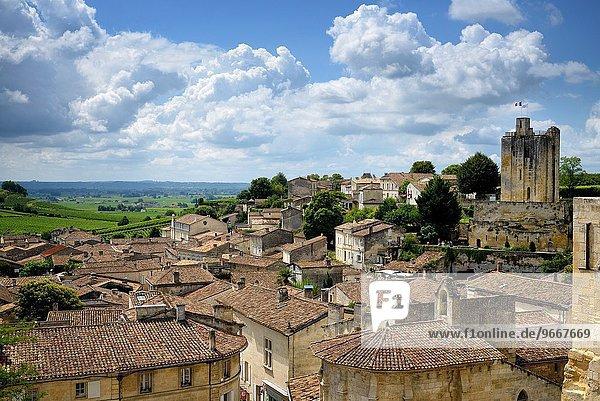 Frankreich Tagesausflug Dorf Ansicht schreiben UNESCO-Welterbe Gironde