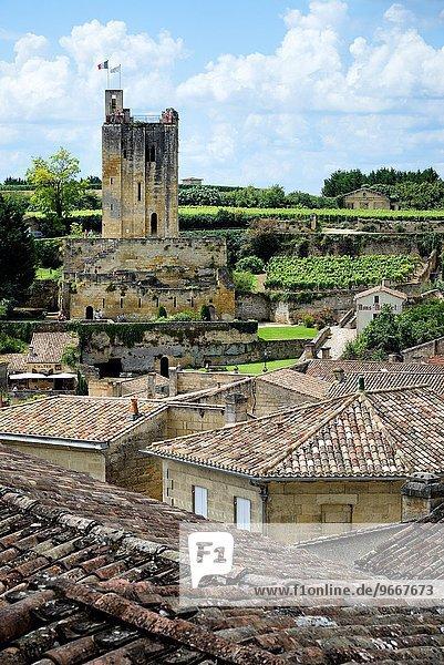 Frankreich Tagesausflug Dorf schreiben UNESCO-Welterbe Gironde