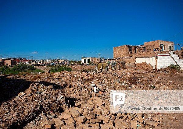 Stadt Vernichtung China Geographie alt