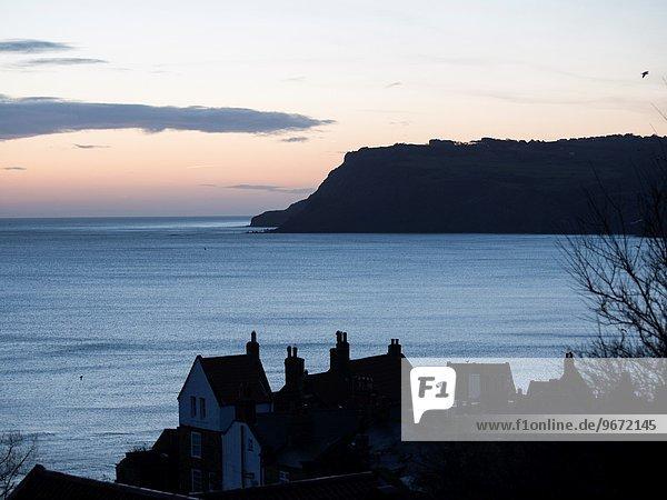 britisch über Sonnenaufgang Yorkshire and the Humber Bucht