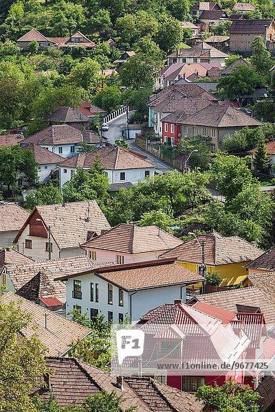 Romania  Transylvania  Medias  elevated town view.
