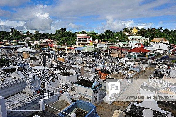 Frankreich Karibik Geographie Friedhof Guadeloupe Kleine Antillen Ausland