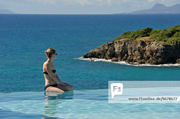 Frankreich Hotel Spa Karibik Schwimmbad Geographie Guadeloupe Kleine Antillen Ausland