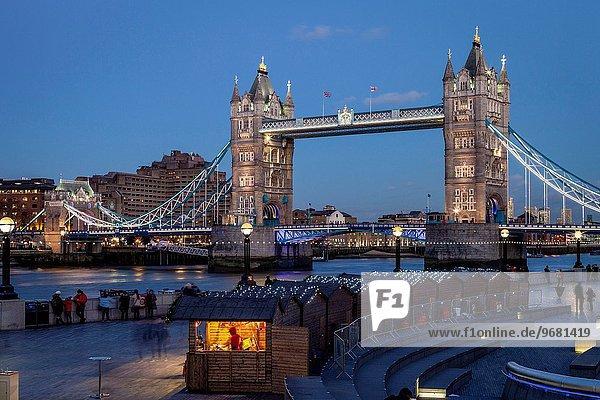 London Hauptstadt Weihnachten England Markt