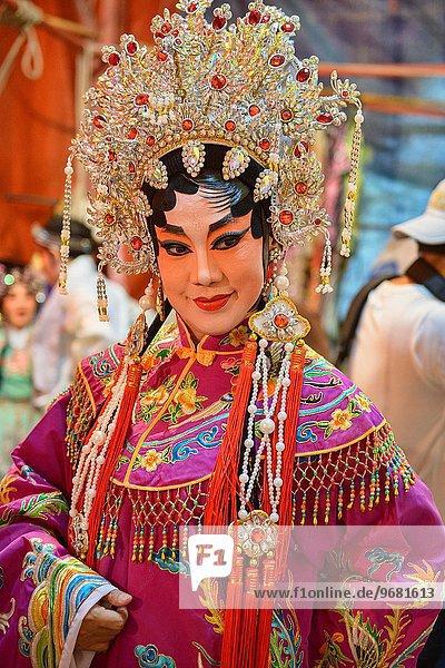 Chinese opera performer at the Vegetarian Festival in Bangkok  Thailand.