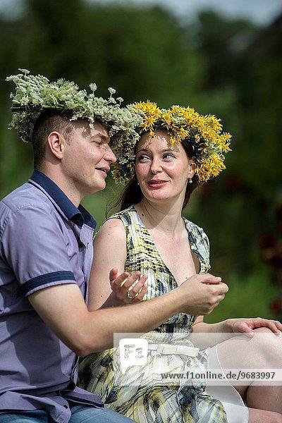 Senior Senioren Blumenkranz Kranz Liebe