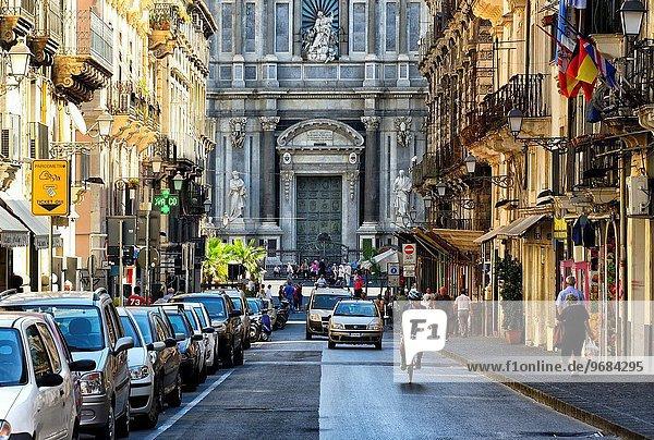 Kathedrale Catania Garibaldi Italien Sizilien