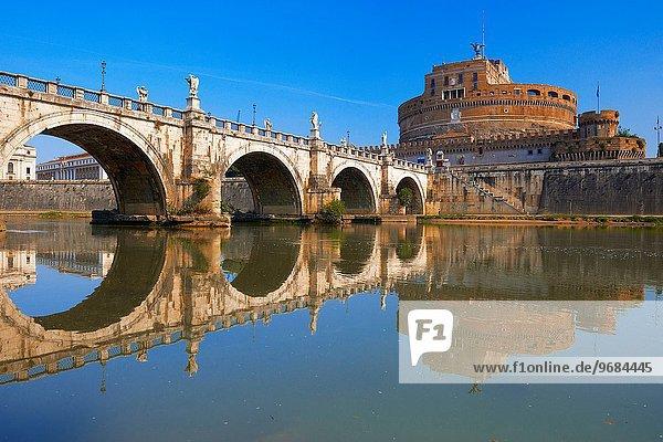 Rom Hauptstadt Tiber Engelsburg Latium Italien