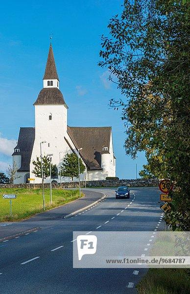 Stockholm Hauptstadt Schönheit Auto klein Stadt Fernverkehrsstraße weiß Kirche Sehenswürdigkeit Süden Schweden