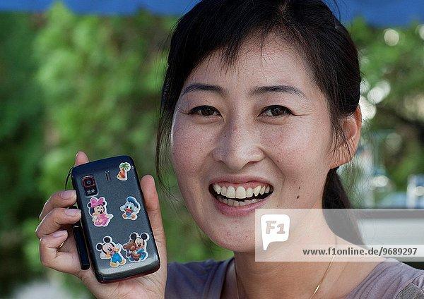 Handy Frau Dekoration jung Nordkorea