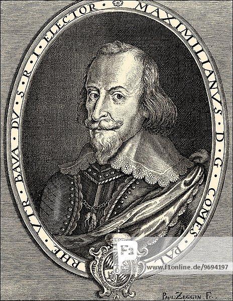 Maximilian I  1573 - 1651  Duke of Bavaria and Elector of the Holy Roman Empire .