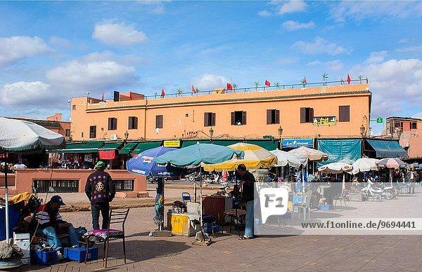 Großstadt Restaurant Laden Marrakesch Innenstadt Marokko