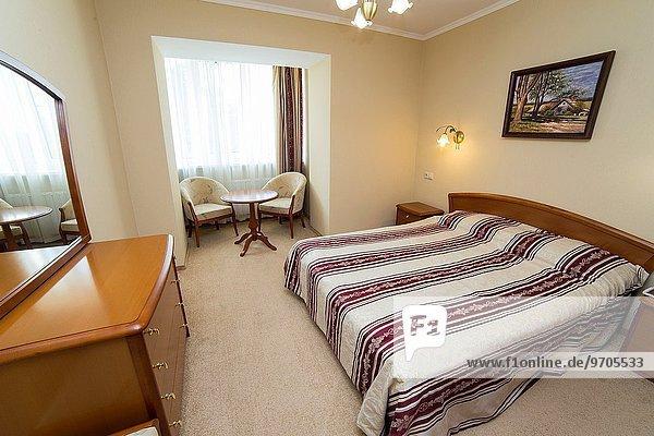 Innenarchitektur Schlafzimmer Hotel Doppelzimmer Russland modernes Zuhause