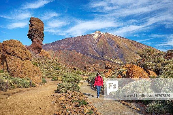 Nationalpark gehen Tourist Kanaren Kanarische Inseln Spanien Teneriffa