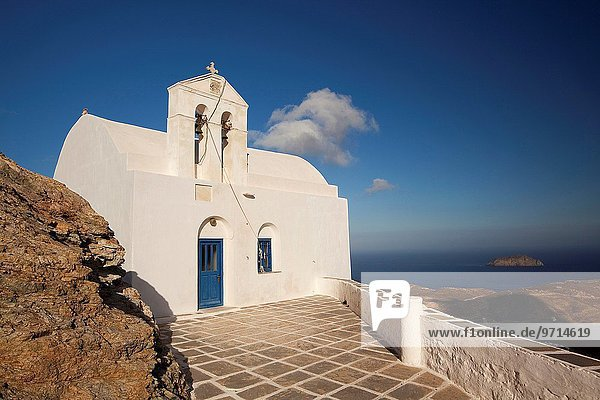 Europa Stadt Kirche Kykladen Griechenland Griechische Inseln