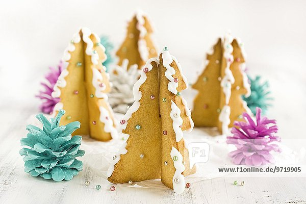 Tannenbaumplätzchen für Weihnachten