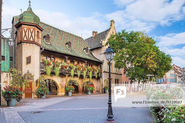 Frankreich Europa Stadt Elsass Colmar alt
