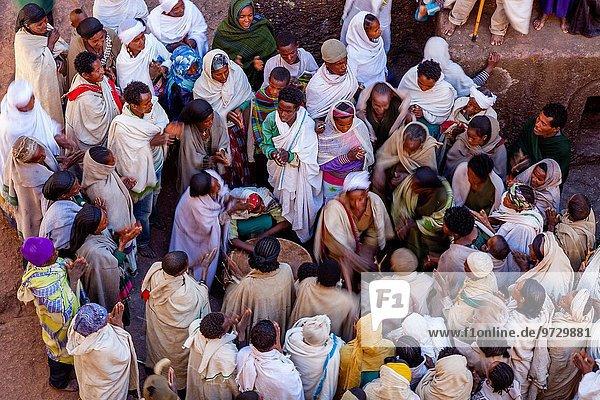 Fest festlich Kirche Christentum Weihnachten Heiligtum Äthiopien