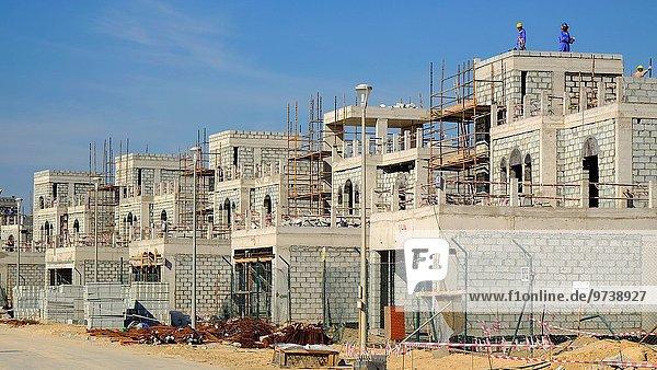 Construction of new luxury villas in Dubai United Arab Emirates.