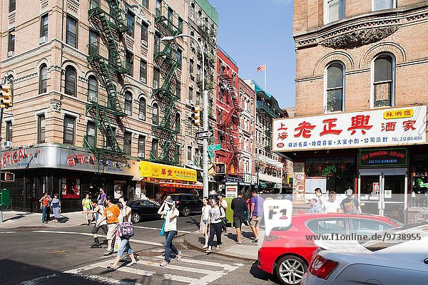 Vereinigte Staaten von Amerika USA Amerika Straße New York City China Town Manhattan
