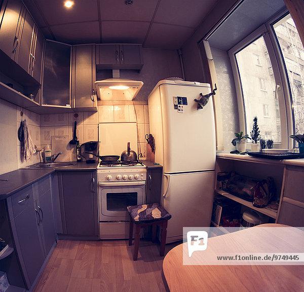 Fisheye Küche Ansicht Blendenfleck lens flare