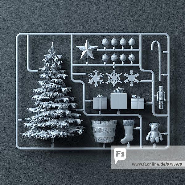 Plastik-Montagesatz für Weihnachten