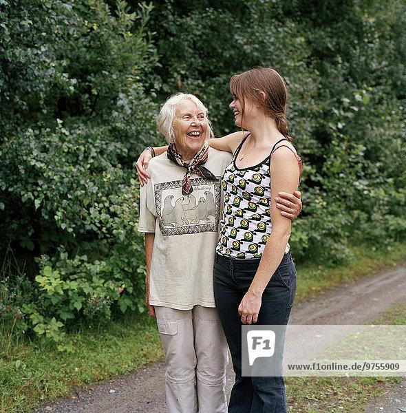 Senior Senioren Frau Fröhlichkeit jung