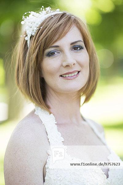 Porträt der lächelnden Braut